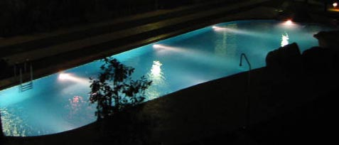 El Rincon pool at night