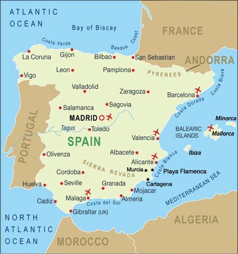 Map of Playa Flamenca in Spain