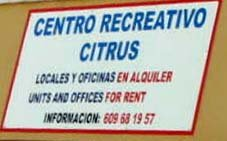 Citrus commercial centre Playa Flamenca