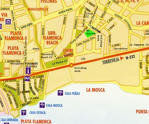 Playa Flamenca detail map