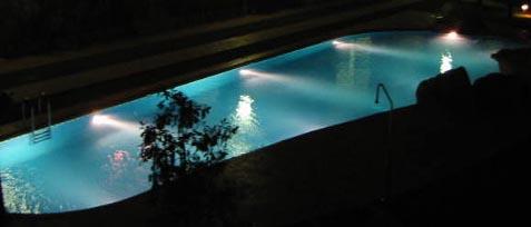 El Rincon swimmimg pool at night
